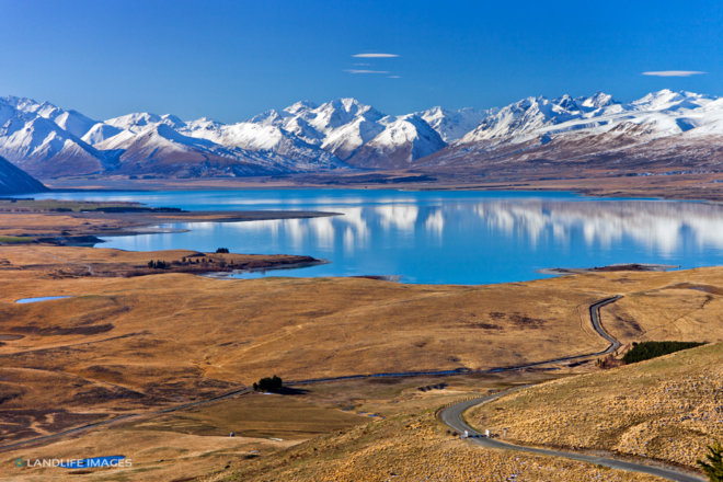 Views across Lake Tekapo, Canterbury, New Zealand