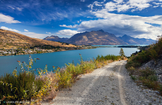 Views Towards Queenstown, Central Otago, New Zealand