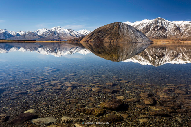 Lake Heron Reflections, Canterbury, New Zealand