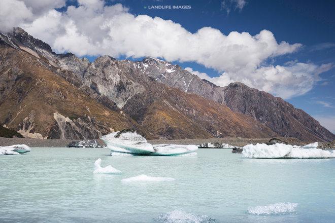 Tasman Lake icebergs