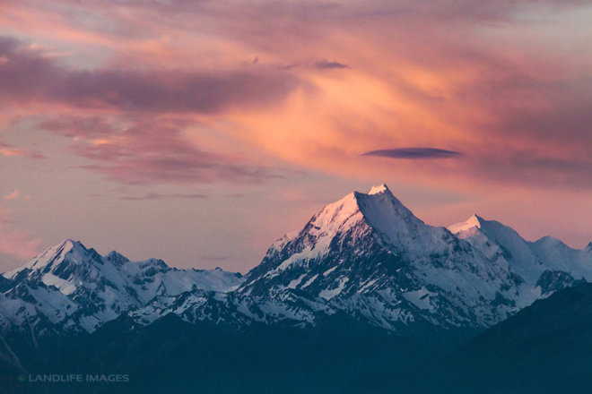 Mt Cook at Sunset, Canterbury, New Zealand
