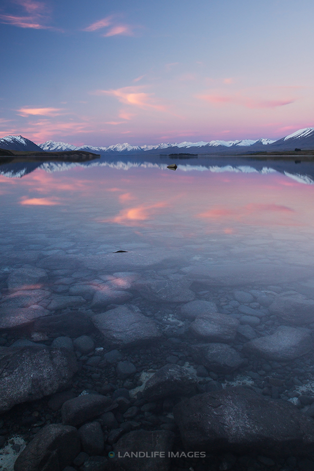 Lake Tekapo at Sunset, Portrait Dimension