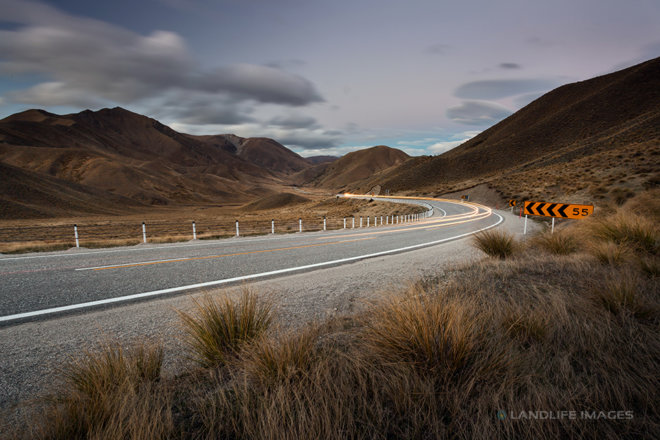 Lindis Pass Light Trails, Central Otago, New Zealand