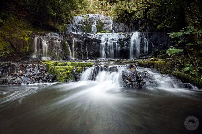 Purakaunui Falls, landscape, Catlins, Southland, New Zealand