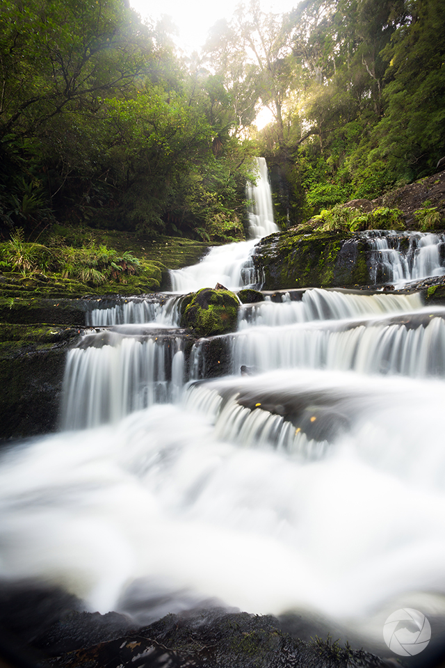 McLean Falls in autumn, Catlins, Southland, New Zealand