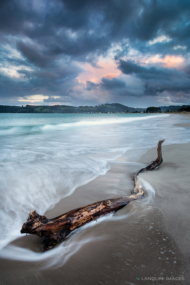Stormy Sunset at Cooks Beach, Coromandel, New Zealand