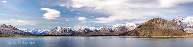 Lake Heron Reflection Panorama