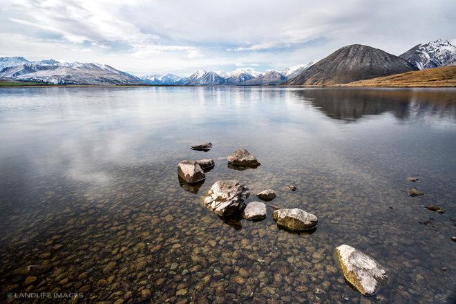 Reflections in Lake Heron