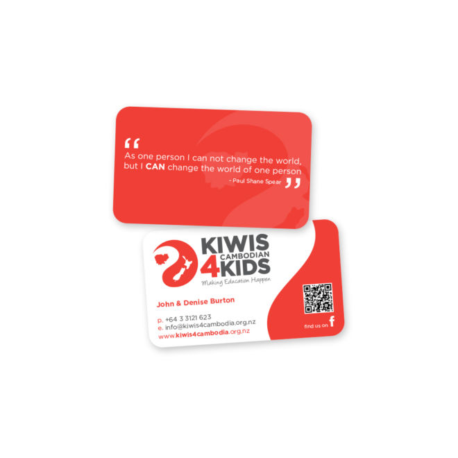 Kiwis 4 Cambodian Kids Business Cards