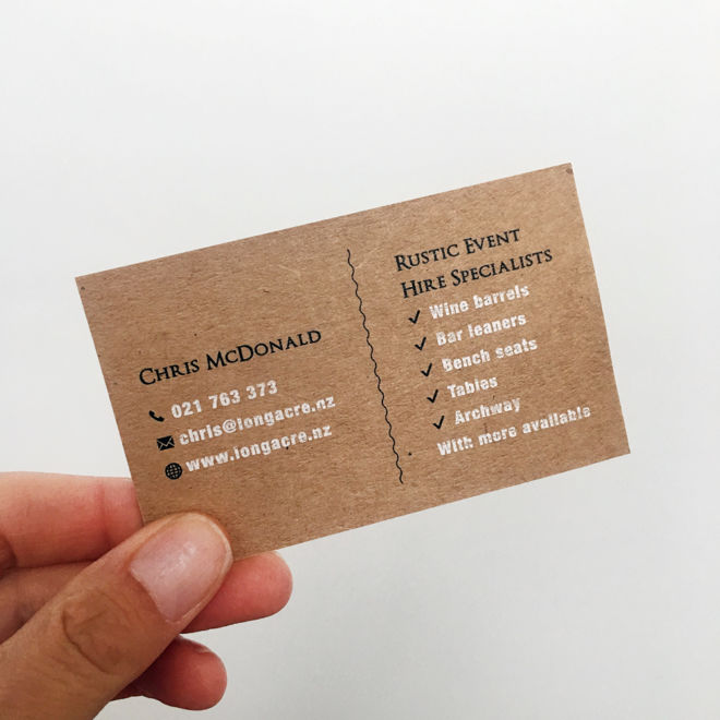Longacre Business Card Back