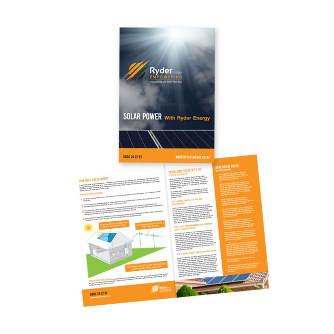 Ryder Energy A4 Folded Booklet