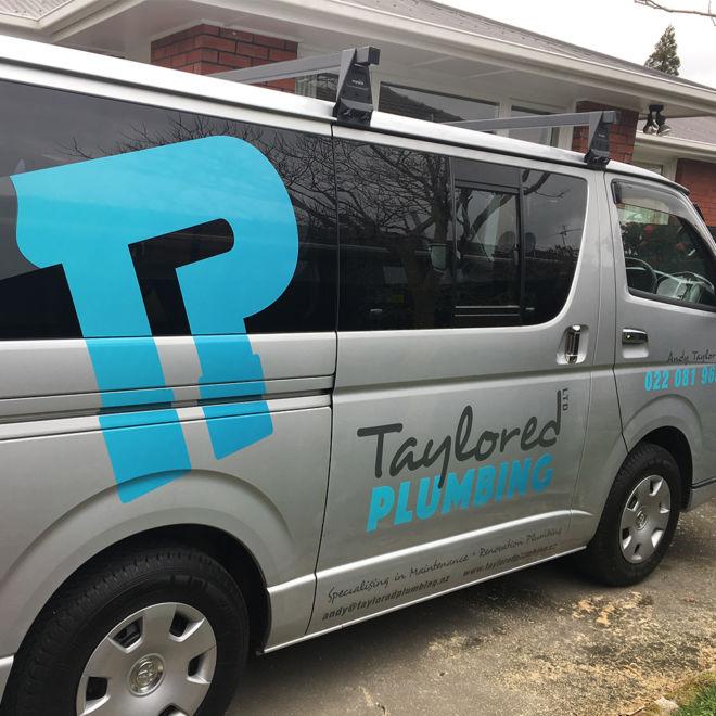 Taylored Plumbing Van Signage