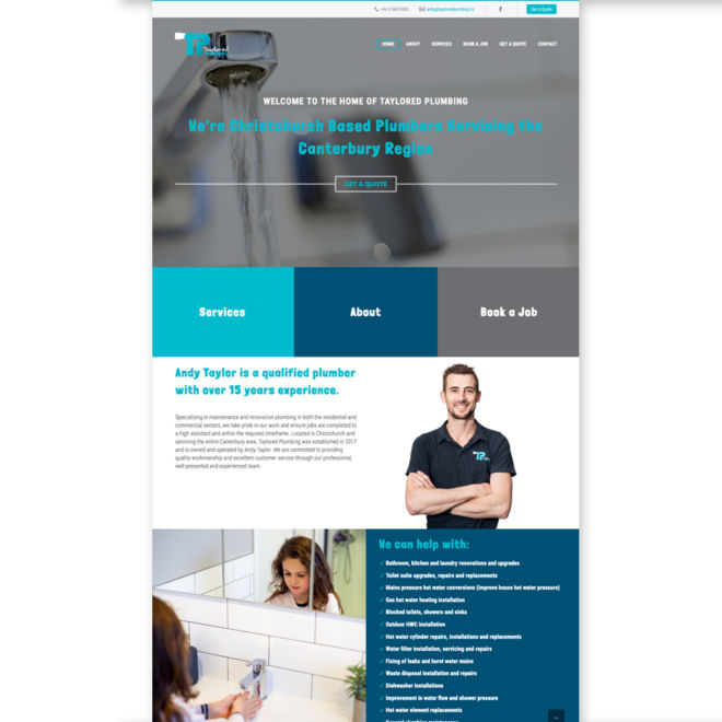 Taylored Plumbing Website