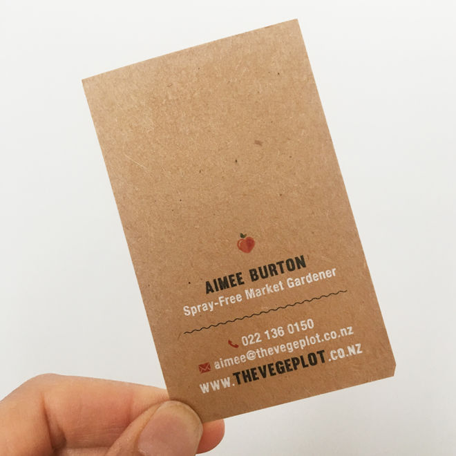The Vege Plot Business Card Back