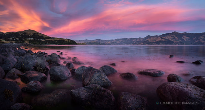 Wainui Sunset Panorama