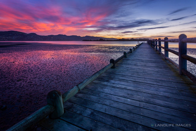 Sunset Wharf, Christchurch, New Zealand