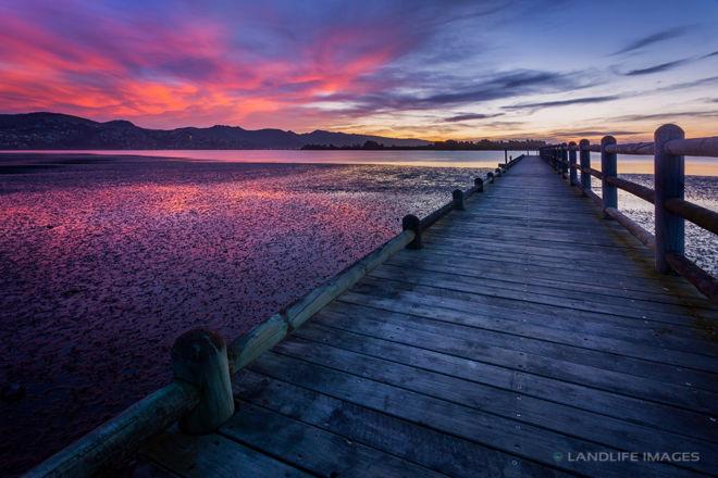Sunset Wharf, Christchurch, New Zealand