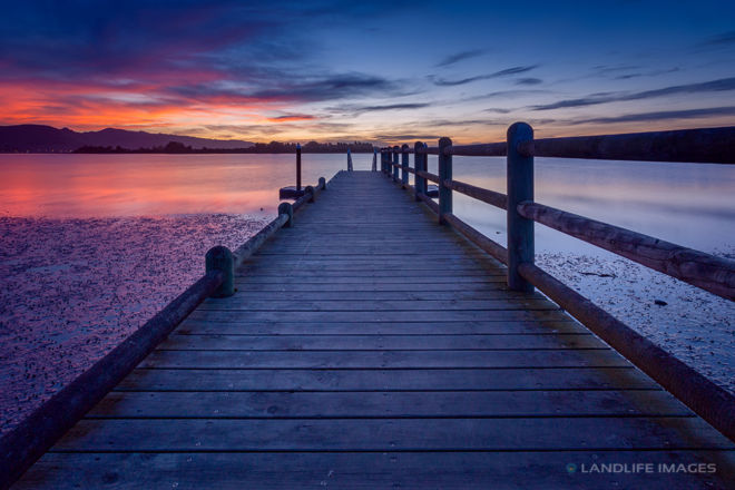 Sunset Wharf Centred, Christchurch, New Zealand