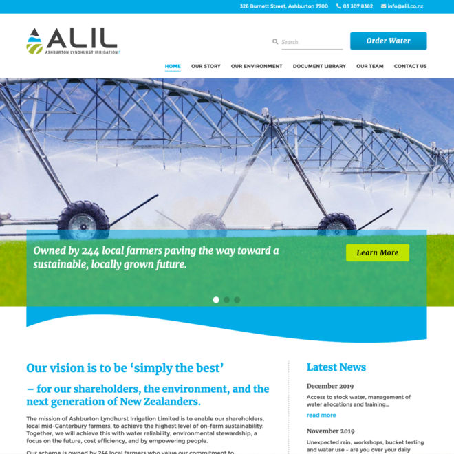ALIL Website Design