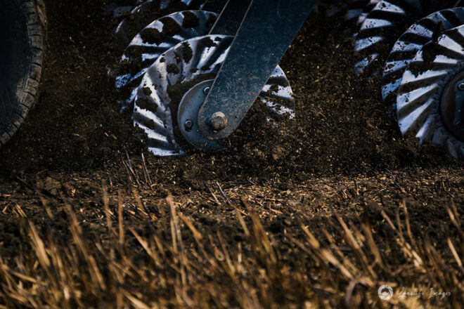 Close up of paddock drilling, Methven, Canterbury, New Zealand