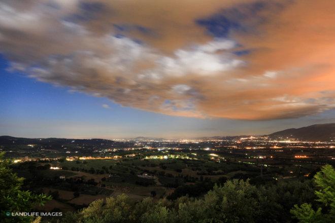 Nightfall over Umbria Province