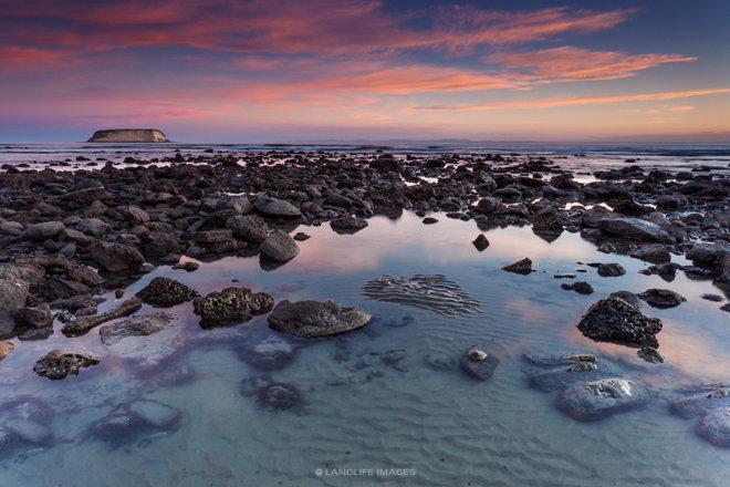 Sunset in Motunau, North Canterbury, New Zealand