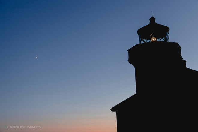 Lighthouse Moon, Friday Harbour