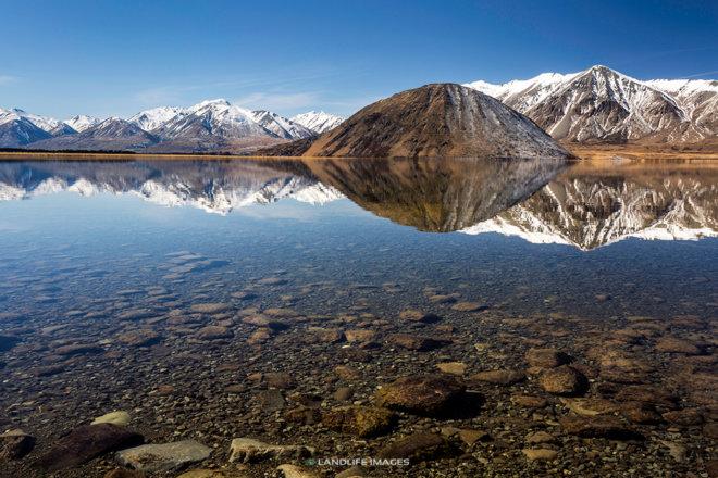 Lake Heron Reflections, Canterbury, New Zealand