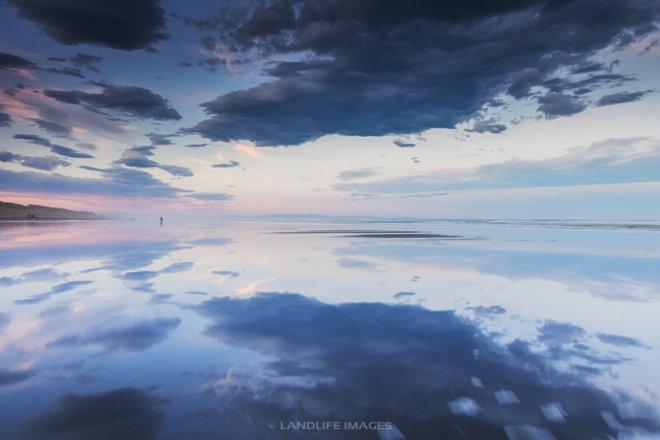 Waimairi Beach Reflections, Christchurch, New Zealand