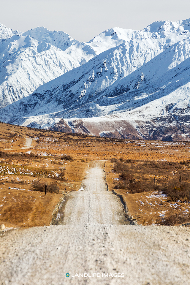 """Road to Snowhere"". Hakatere Conservation Area, Canterbury, New Zealand"