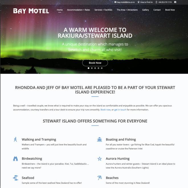 Bay Motel Website