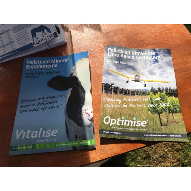 CP Lime Solutions Vitalise and Optimise A5 Brochures Printed