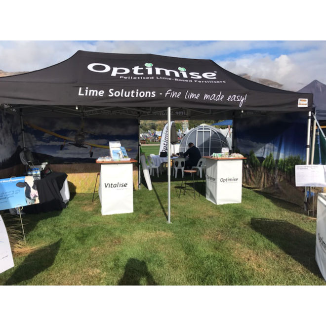 CP Lime Solutions Vitalise and Optimise Show Marquee