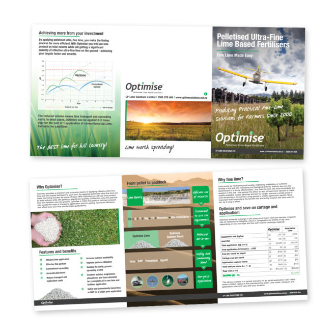 CP Lime Solutions Optimise A5 6 Panel Brochure