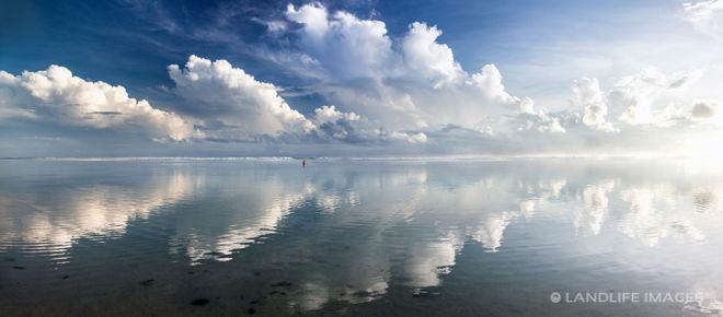 Reflective Rarotongan Sea Panorama