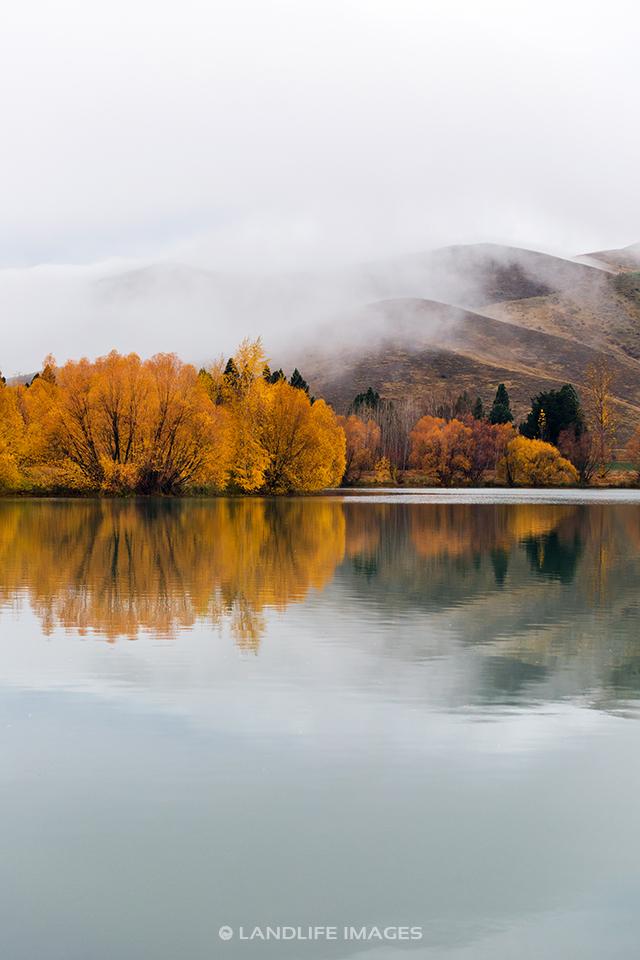 Kellands Ponds Reflections, Mackenzie, New Zealand