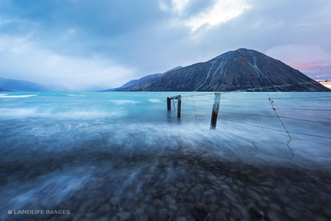 Lake Ohau with Nor'west Rain moving in
