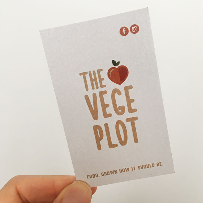 The Vege Plot Business Card Front