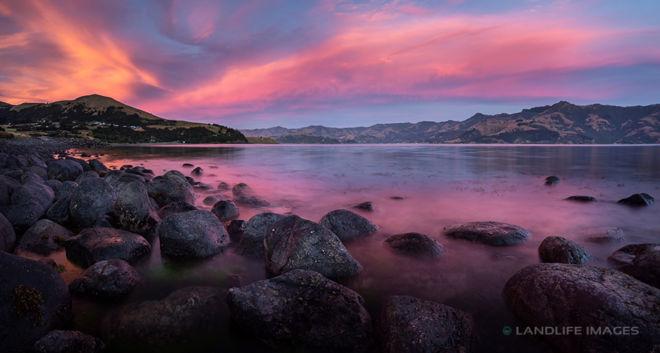 Wainui Sunset Panorama