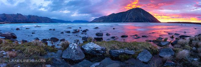 Lake Ohau Nor'West Sunrise Panorama