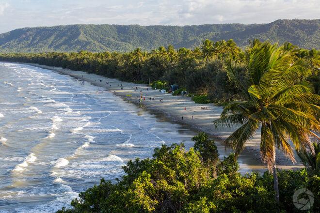 View across Port Douglas's 4 Mile Beach